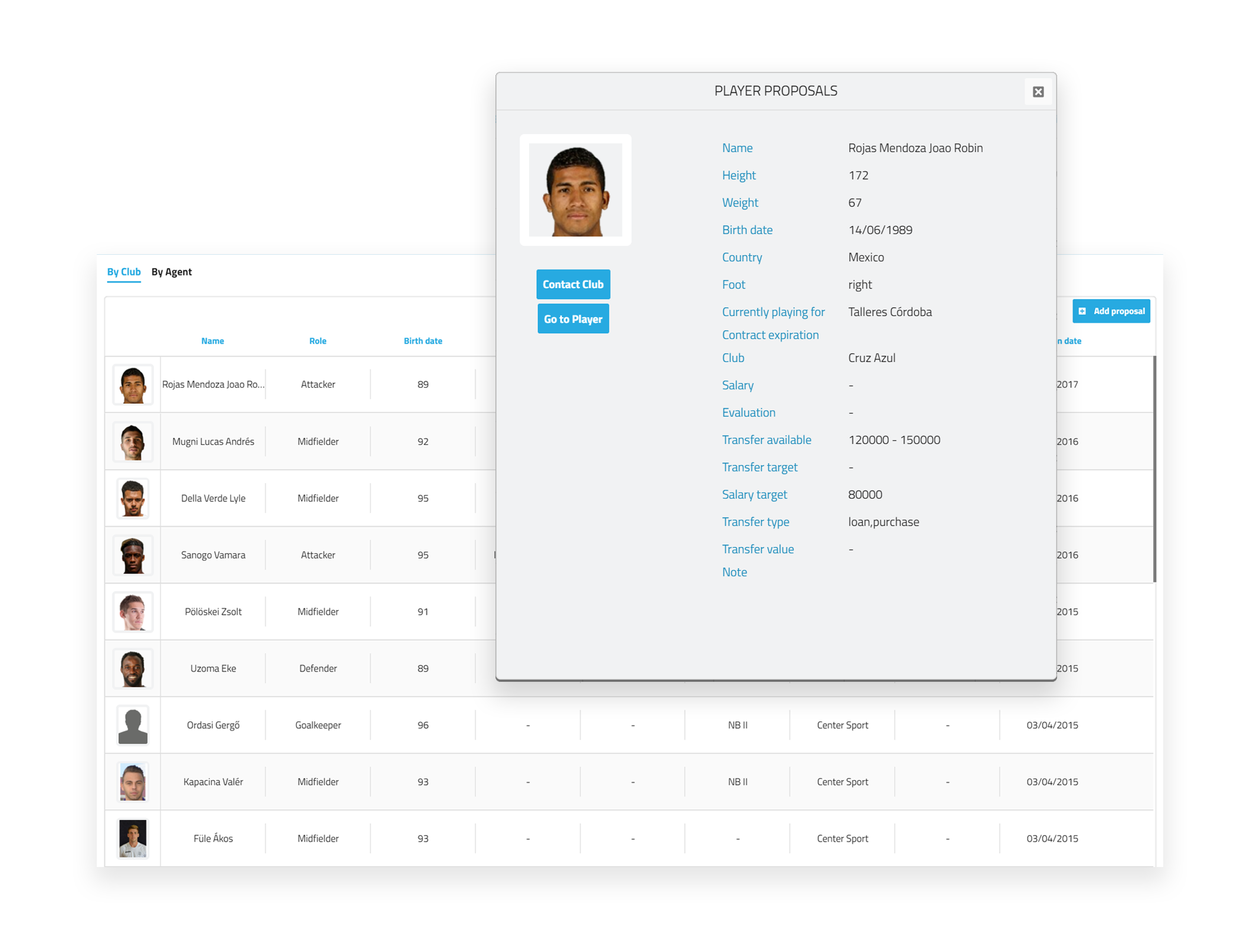Professional Football Platform for Player Agents - Wyscout